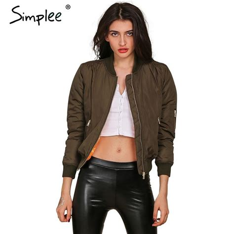 Jaket Bomber Motor Browngreen Army simplee apparel winter parkas cool basic bomber jacket army green jacket coat padded