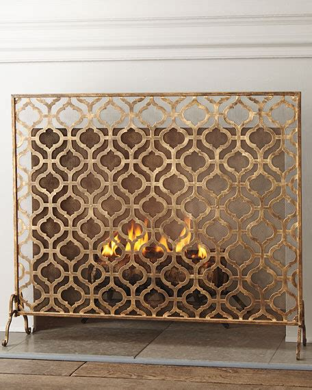 single panel fireplace screen gold fireplace screens single panel italian gold iron