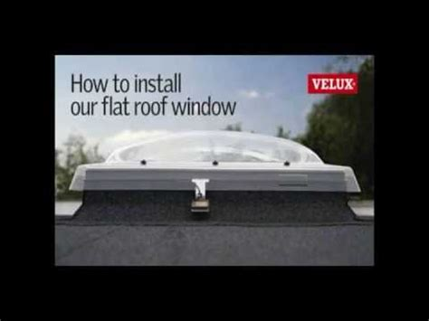 How To Install A Cupola Velux Flat Roof Window Installation How To Install A