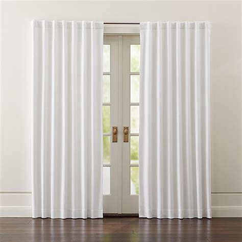 wallace white blackout curtains crate  barrel