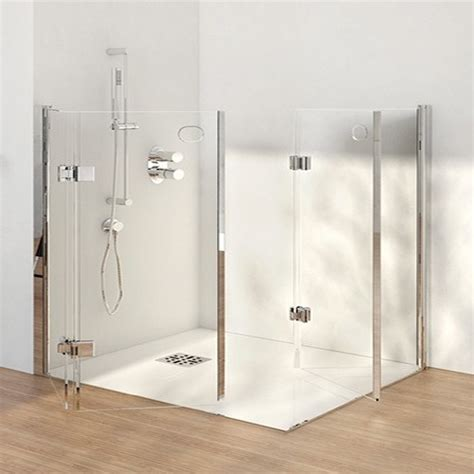 docce glass box docce 2b series 4000 h8b half height glass shower