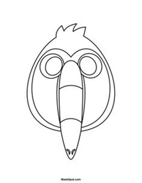 printable woodpecker mask toucan mask to color printable mask free to download and