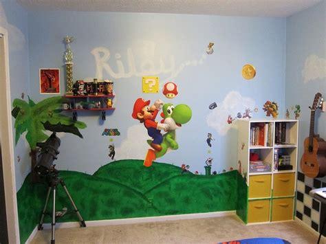 mario bros room i like that the bookshelf is painted
