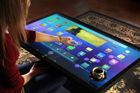 display android screen on pc 46 inch touchscreen coffee table runs android