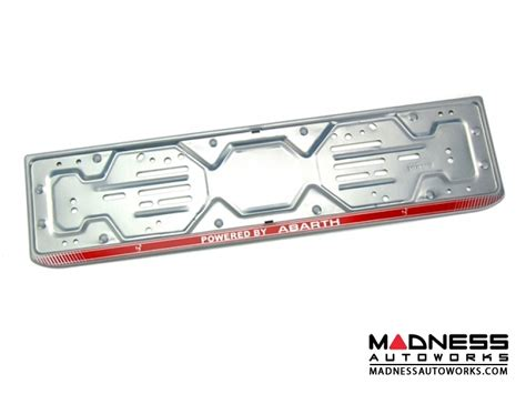 european license plate mounting frame powered by abarth