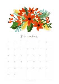 Calendar 2018 Printable Floral Printable December 2018 Calendar Monthly Planner Floral