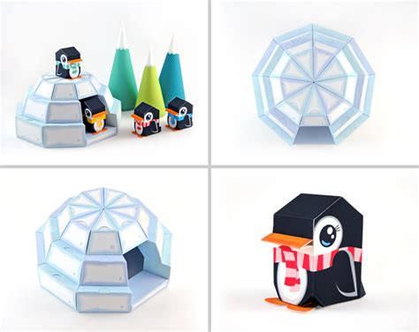 Paper Craft Pdf - igloo advent calendar printable paper craft pdf on luulla
