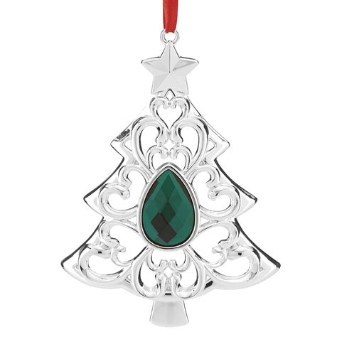 gemmed tree lenox christmas ornament
