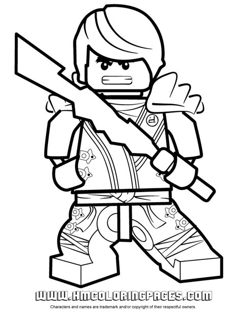 free ninjago dark samurai coloring pages