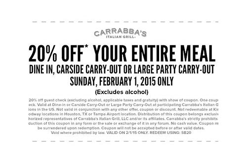 carrabba's coupons printable october 2018