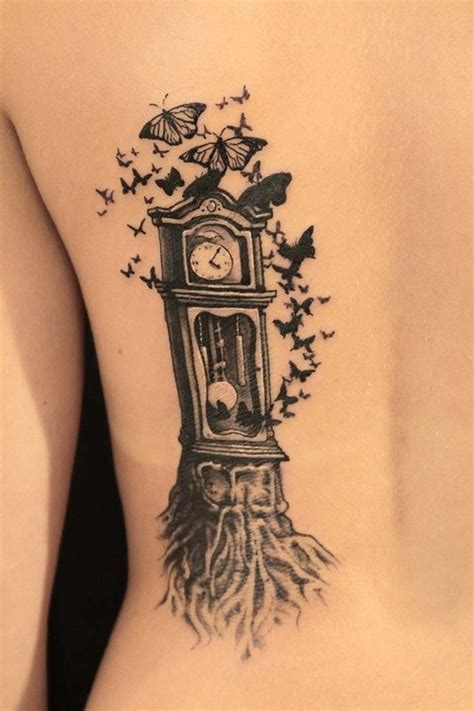 grandfather clock tattoo designs 37 unique grandfather clock tattoos