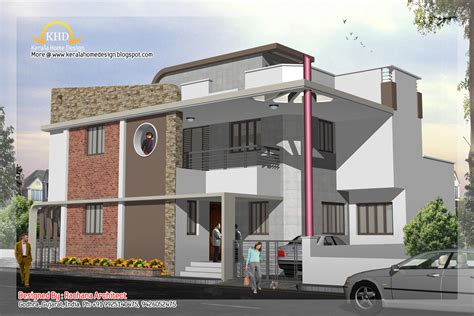 plan and elevation of houses duplex house plan and elevation 2741 sq ft kerala home design and floor plans