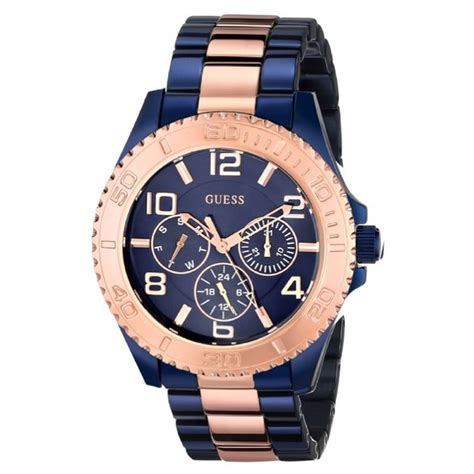 38 guess accessories guess blue and gold tone
