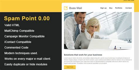 themeforest email templates buss clean email template by mailrock themeforest