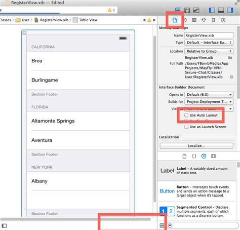 autolayout xcode 6 constraint autolayout bar hidden xcode 6 ios codedump io