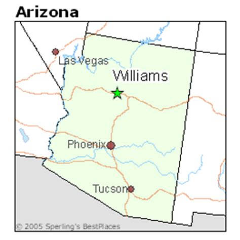 williams arizona map best places to live in williams arizona