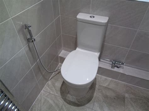 Toilet And Douche by Bathroom Converted To Shower Room In Wyken Coventry