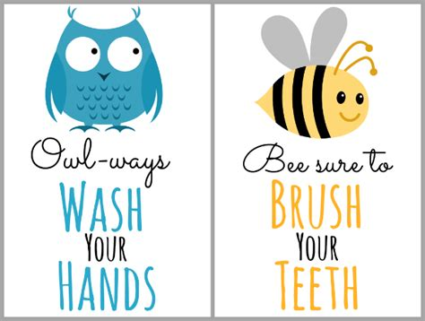 kids bathroom signs crafting an organized kid s bathroom with free printable