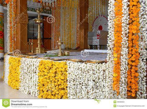 A Kerala Wedding Flower Decoration Editorial Stock Image