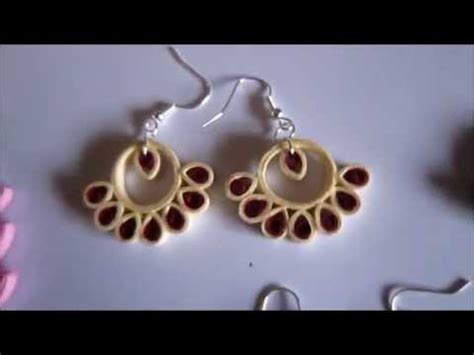 paper quilling tutorial youtube handmade jewelry paper quilling earrings not tutorial