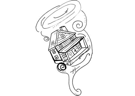 free coloring pages of tornado cartoons