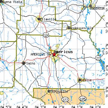 americus ga population data races housing