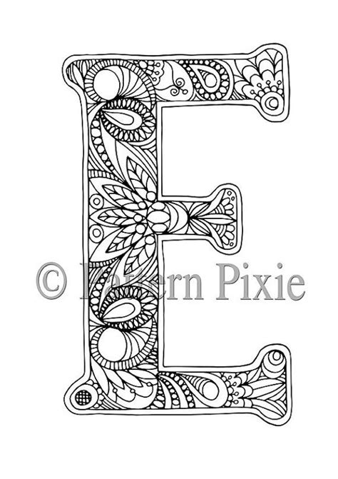 coloring pages for adults letter e 79 best images about adults coloring pages on pinterest