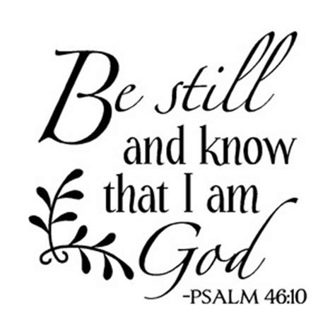 be still and know clipart
