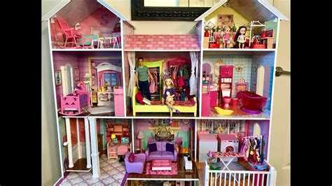 barbie house video barbie house new big haley and ally youtube
