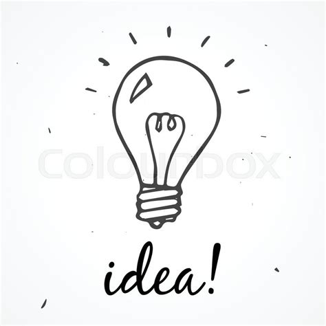 doodle god how to create light bulb vector doodle light bulb idea stock vector