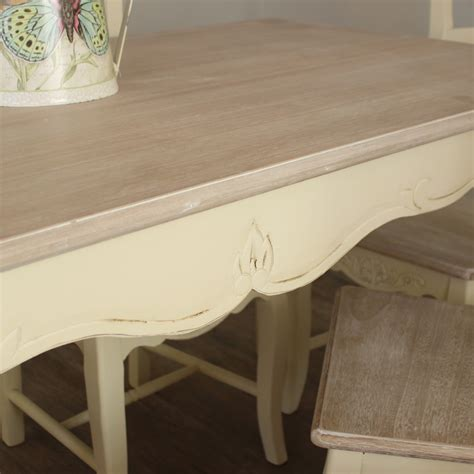 country ash range large dining table and 6 chairs