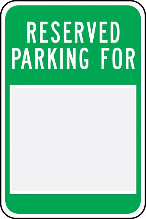 Safety Signs Safety Tags And Safety Labels By Accuform Signs Printable Reserved Parking Sign Template