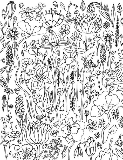 spring coloring pages for adults pdf 92 best adult coloring pages at coloringgarden com images