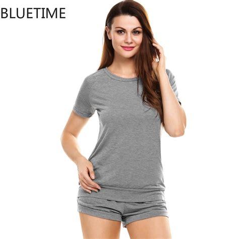 Sanbonnet Shortpants Pajamas bluetime pajamas set summer cotton modal soft t shirt shorts sets sleepwear