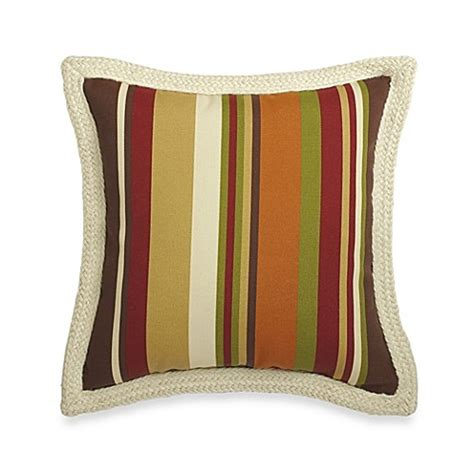 large basket for storing throw pillows square outdoor throw pillow with trim in chocolate stripe