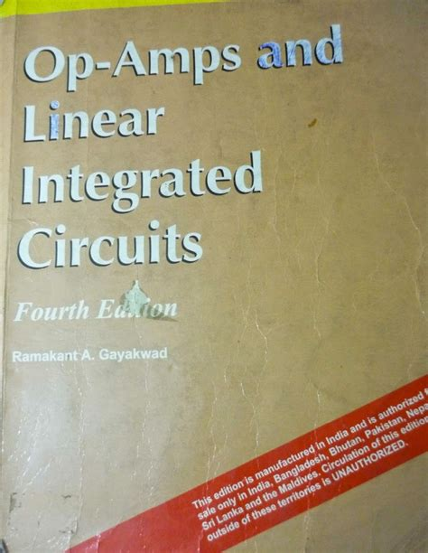 analog integrated circuits ramakant gayakwad operational lifier and linear integrated circuits by ramakant gayakwad 4th edition pdf