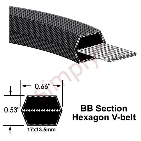 Emerson Doble Side Belt bb240 major brand hexagon section sided v belt simply bearings ltd