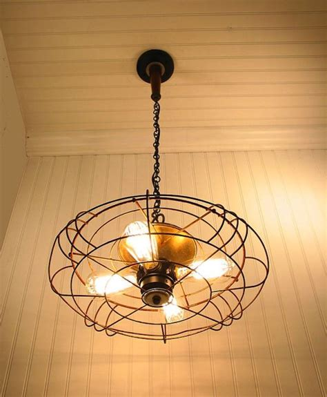 Pendant Light With Fan Pendant Light From Industrial Fan Source Lgoods Etsy
