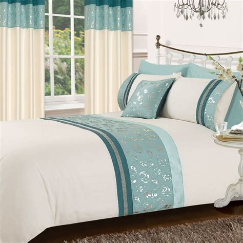 teal bedding teal colour stylish matallic floral diamante duvet