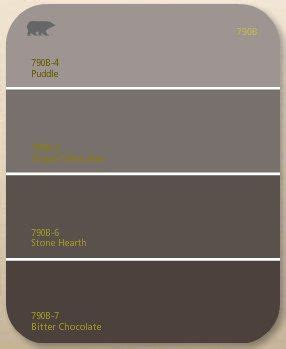 chocolate brown gray paint the dark brown paint color
