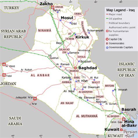 map of iraqi fields iraq pipeline