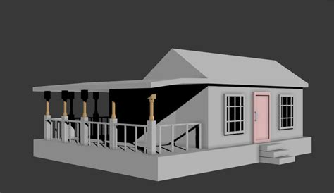 Model Simple Simple House 3d Model Fbx Cgtrader