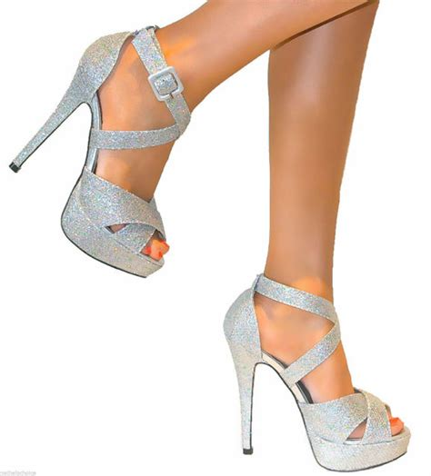 strappy stiletto high heels womens ankle strappy peep toe stiletto high heels platform
