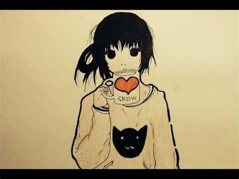 imagenes tumblr kawaii para dibujar dibujo tumblr sencillo chica anime kawaii dibujo f 225 cil