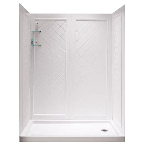 types of acrylic shower walls pictures to pin on pinterest dreamline shower base and back walls white acrylic wall