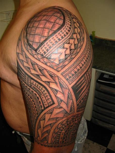 hawaiian quarter sleeve tattoo simple stencil of samoan hawaiian tattoo golfian com