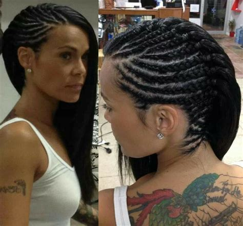 side braids for woman over 60 cornrows to the side hair pinterest cornrows corn