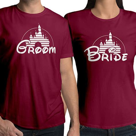 T Shirts For Couples Sweatshirts Groom Wedding Disney Disneyland Matching
