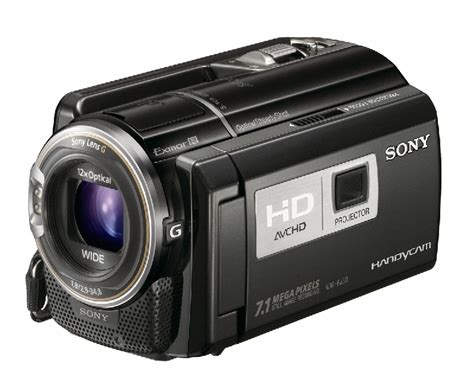 Handycam Proyektor Sony new hd camcorders with built in projectors released