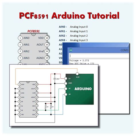 tutorial arduino basic pcf8591 ad da converter arduino tutorial 1 a simple
